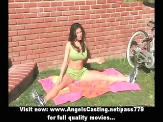 amazing brunette hair milf does blowjob and rides