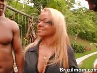 brazilian milf shows off sexy wazoo large ass