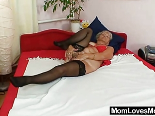 unsightly grandma cecilie toys her curly love