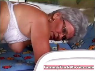 stud pounds granny her aged beaver