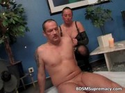 kinky mature mistress waxes naked fellow