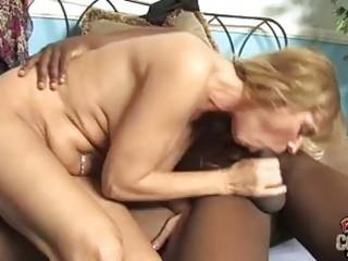 blonde momma with big happysacks sucking large