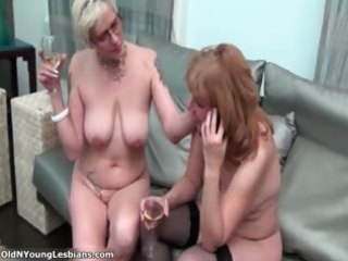 two horny older lesbians are drinking part11