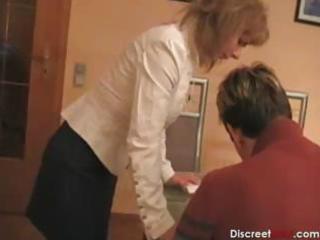 hawt german mom teaches boy