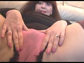 busty mature with hairy twat teases