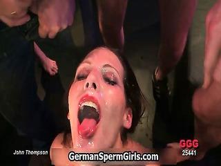 wicked brunette slut goes crazy sucking