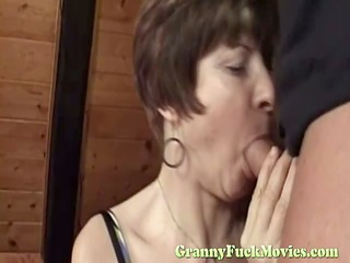 unsightly granny fucks young lad