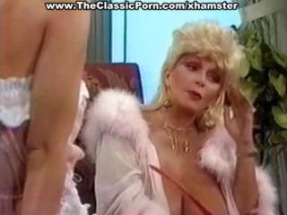 busty mature classic blonde star gives a sexy