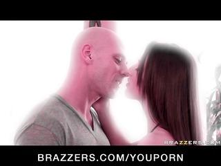 slim pornstar with natural tits copulates hard on