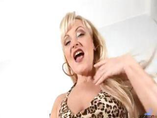 mature older golden-haired anal bead play