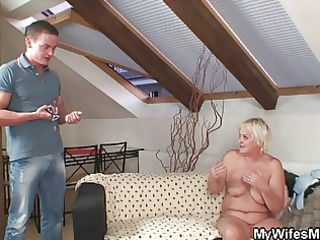 fuckfest with lascivious granny and her son in law