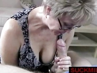 milf takes over a handjob