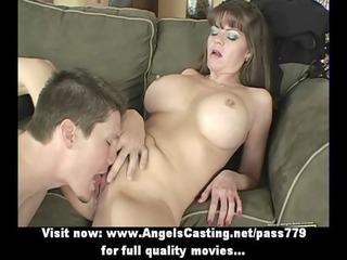 badass milf does blowjob for youthful guy and has