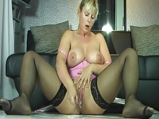 busty milf in stockings soaked squirt big o